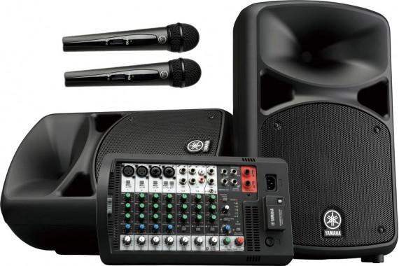 Колонки Yamaha Stagepas 600BT с микрофонами