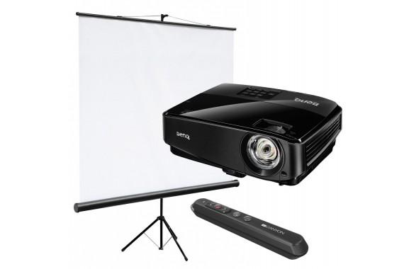 Проектор с экраном и лазерной указкой
