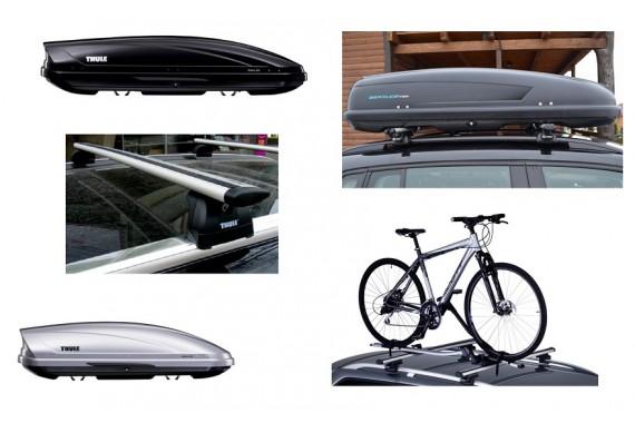 Автобоксы, багажники на рейлинги и крышу, велобагажники
