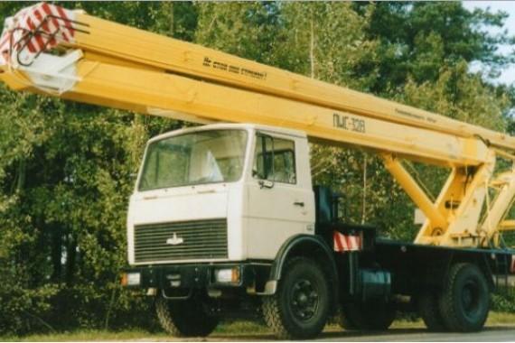 Автовышка ПМС 328 на базе МАЗ