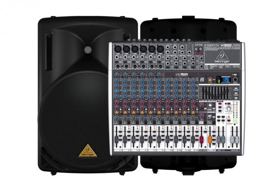 Комплект звукового оборудования  Behringer (500 Вт)
