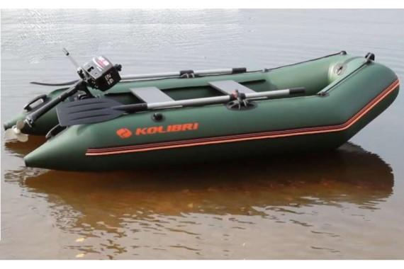 Четырехместная надувная лодка Колибри КМ 300