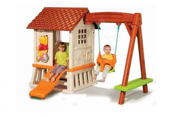 Детский домик Smoby с горкой и качелями «Милый Вини»