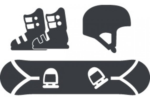 Детский комплект сноуборд, ботинки, шлем