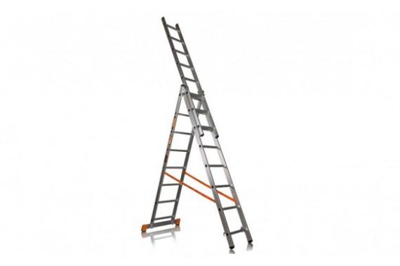 Лестница универсальная трехсекционная алюминиевая