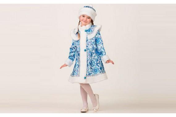 Новогодний костюм Снегурочка «Гжель»