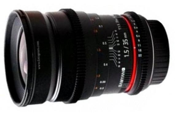 Объектив Samyang 35 mm f/1.5 ED AS UMC VDSLR для Canon