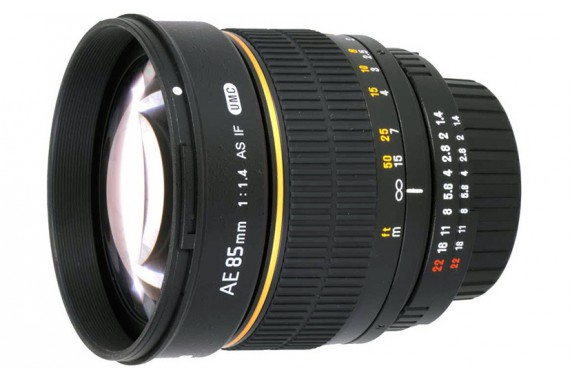 Объектив Samyang 85 mm f/1.4 AS IF UMC для Canon