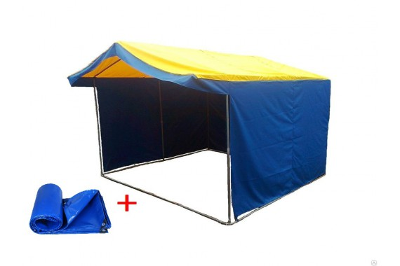 Палатка торговая 3 х 2 м. + передняя стенка
