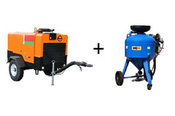 Пескоструйное оборудование с компрессором