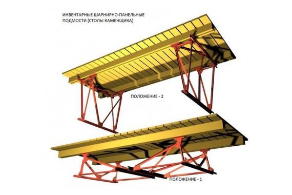 Подмости строительные (стол каменщика)