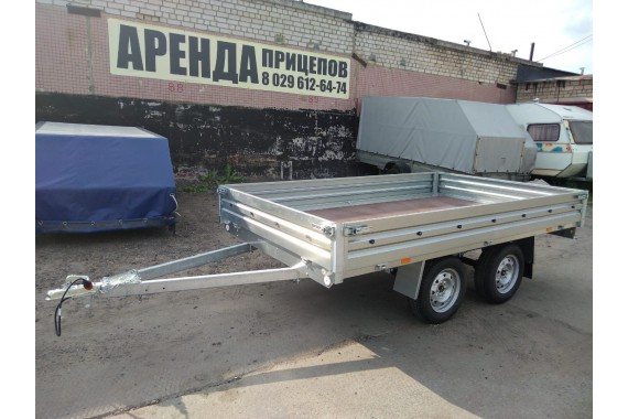 Прицеп-платформа с боковой загрузкой для негабаритных грузов