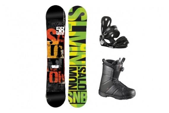 Прокат комплектов — сноуборд и ботинок Salomon