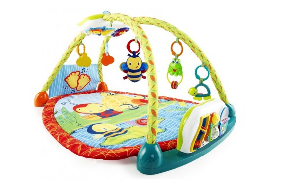 Развивающий коврик с игровой панелью-столиком 2 в 1 Чудесное озеро Bright Starts