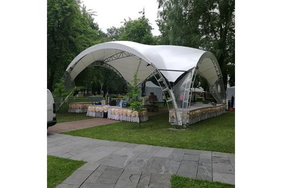 Арочный шатер «Дюна» 10 х 10 м