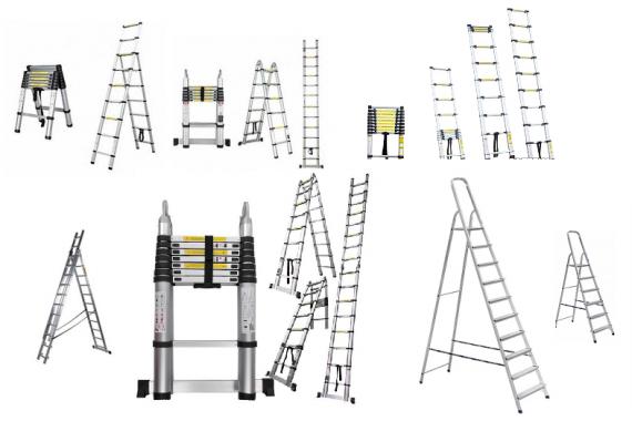Широкий выбор телескопических, многосекционных, складных лестниц от 1,5 до 7 метров