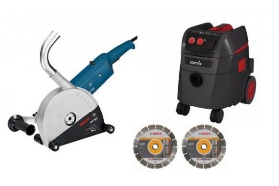 Штроборез Bosch GNF 65 CA и пылесос Starmix 1425 EWS