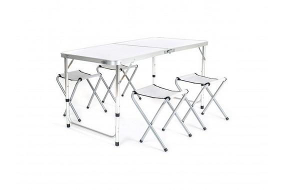 Стол складной 120х60х70 см с 4-мя стульями