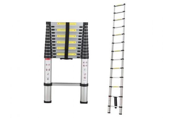 Телескопическая односекционная алюминиевая лестница