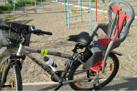 Велосипедное кресло для детей
