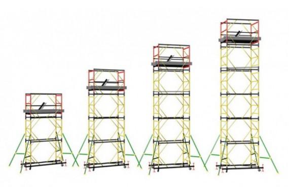 Вышки-туры, леса строительные (размер площадок 2х0,8/ 2х1,2 /1,2х1,2 /2х2)