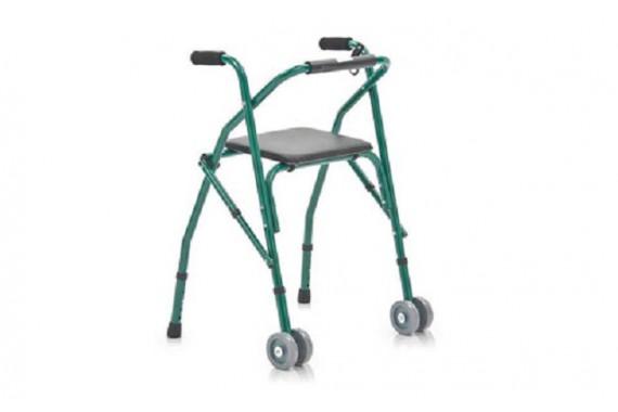 Ходунки регулируемые на колесах с сидением для отдыха FS914L