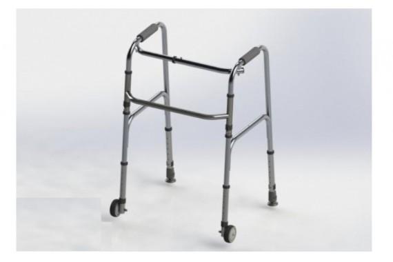 Ходунки складные, шагающие, с передними колесами